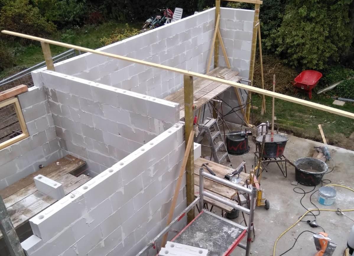 plaatje van Aanbouw woonhuis familie Bos, Ede